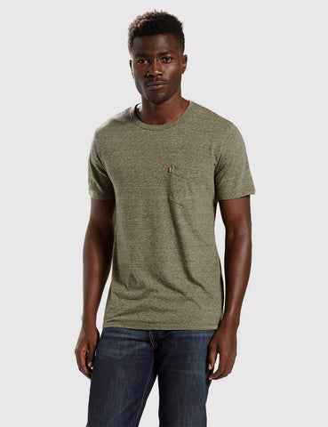 Levis Sunset Pocket T-Shirt - Olive Night