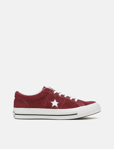 Converse One Star Ox Low Suede (158370C) - Deep Bordeaux/White