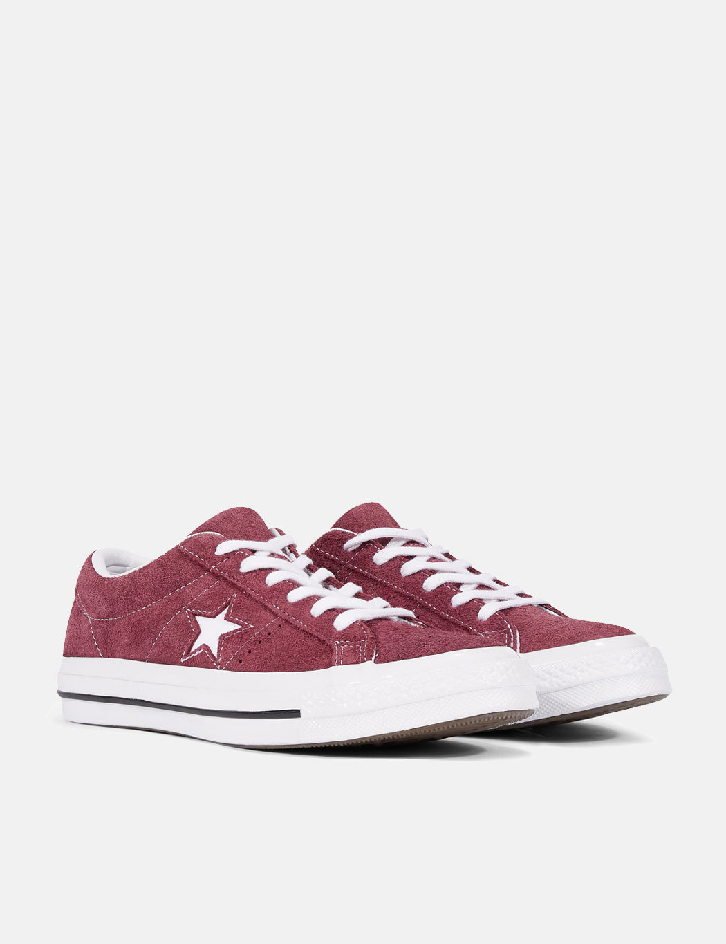 281b54f622b0 ... Converse One Star Ox Low Suede (158370C) - Deep Bordeaux White