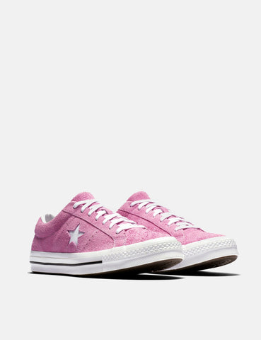 Converse One Star Ox Low Suede (159492C) - Light Orchid/White/Black