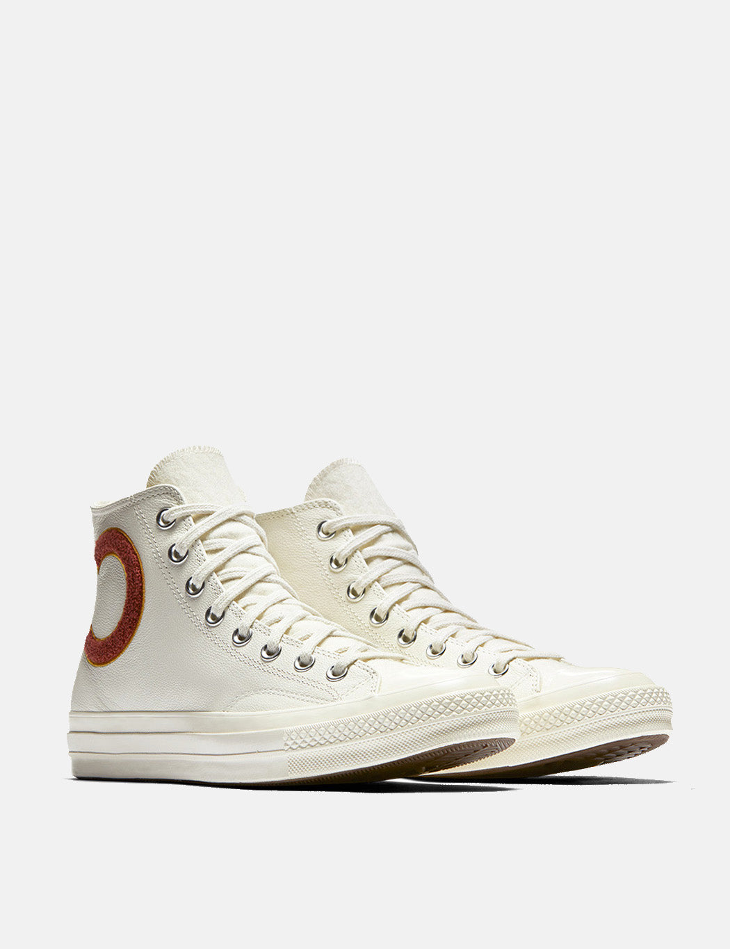 Converse 70s Check Taylor Hi Wordmark (Leather) - Egret/Mars Stone/Soba