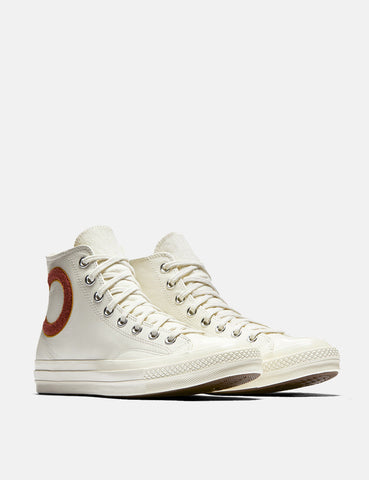 Converse Chuck Taylor All Star '70 Wool Wordmark Hi (Leather) - Egret/Mars Stone/Soba