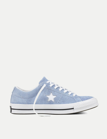 Converse One Star Ox Low Suede (159768C) - Blue Chill/White/Black