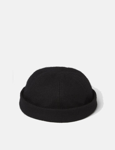 SCRT Docker Beanie Hat (Wool) - Black