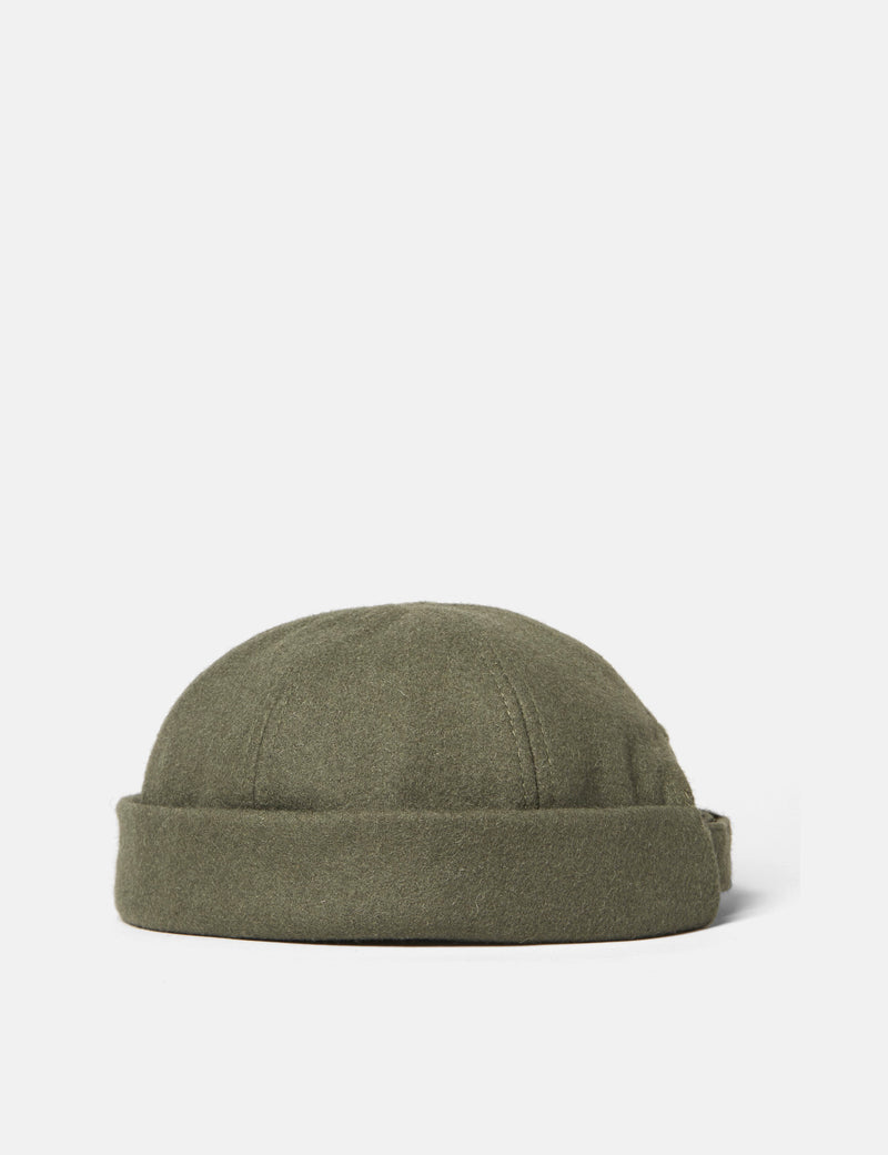 SCRT Docker Beanie Hat (Wool) - Olive Green