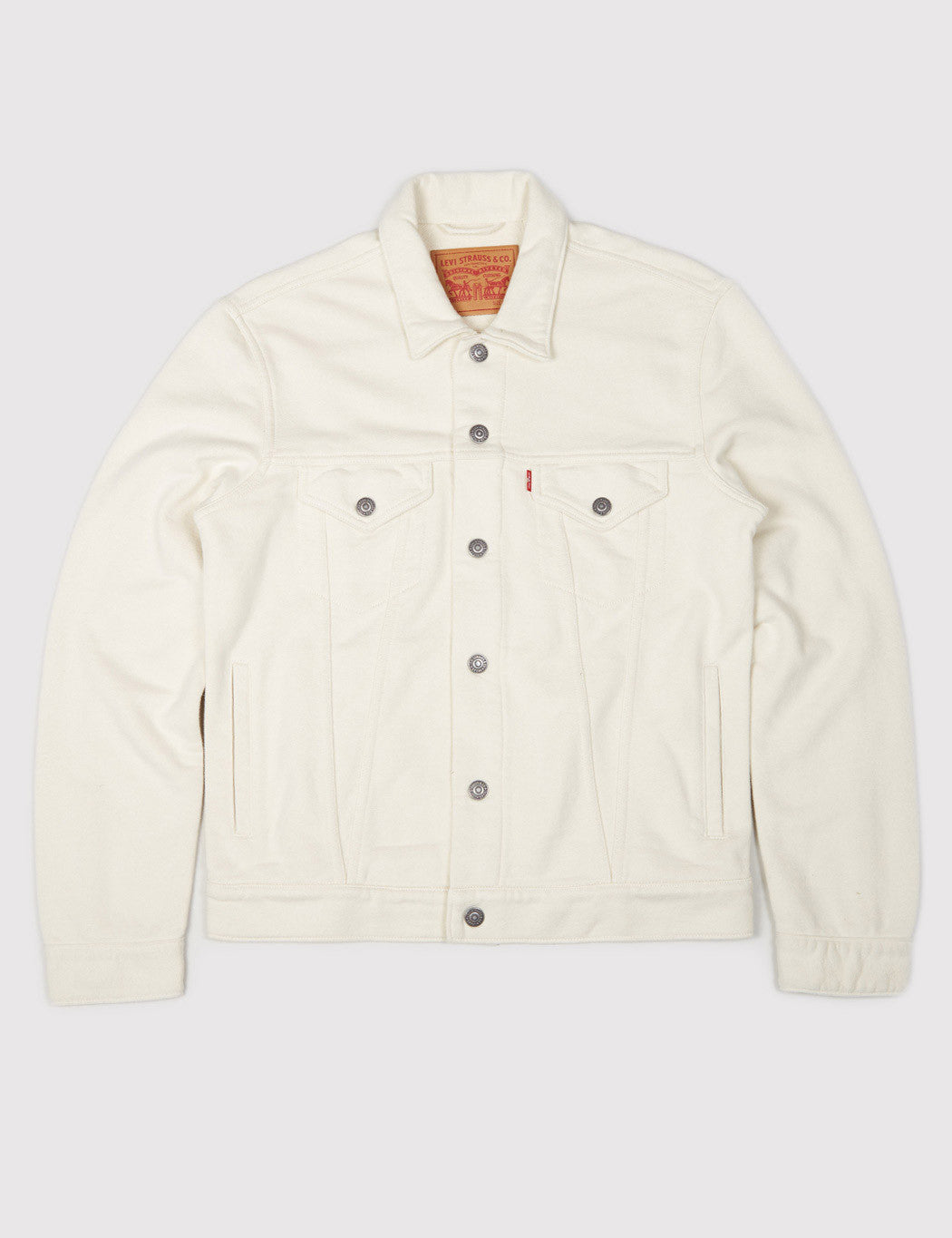 Levis French Terry Trucker Jacket - Chalky White