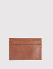 Wood Wood Card Holder (Leather) - Brown