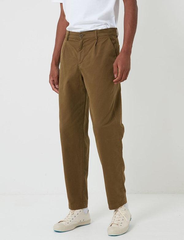 Bhode Everyday Pant (Relaxed, Cropped Leg) - Military Olive
