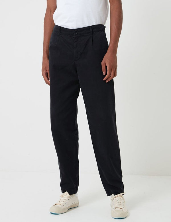 Pantalon Bhode Everyday (Relaxed, Cropped Leg) - Noir
