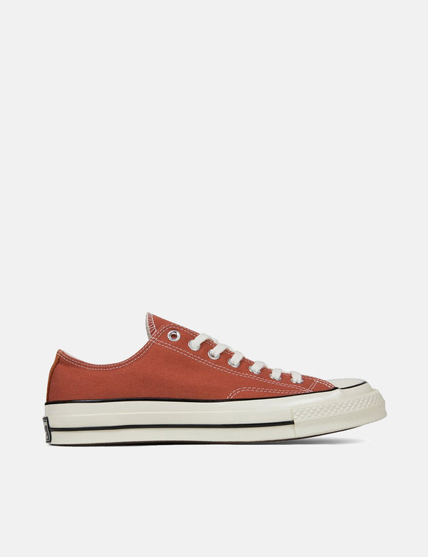Converse 70's Chuck Low 161505C (Canvas) - Terracotta Red/Black/Egret
