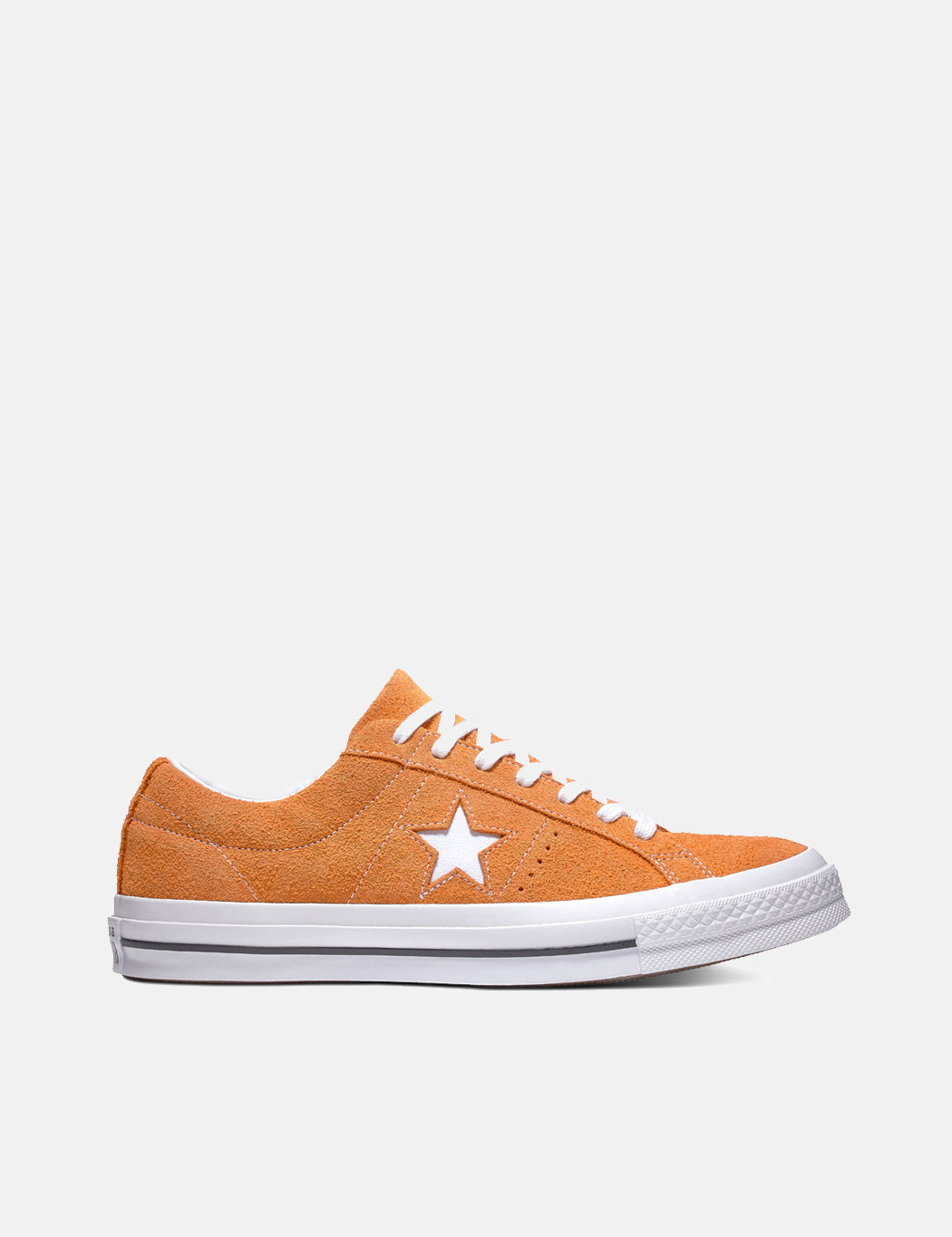 c0cec7c1d6e5 Converse One Star Ox Low Suede (161574C) in Bold Mandarin Orange White White