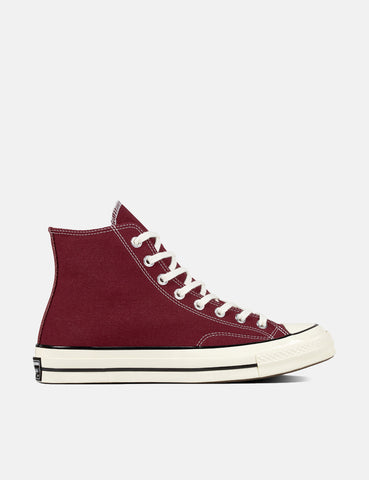Converse 70's Chuck Hi 162051C (Canvas) - Dark Burgundy/Black/Egret