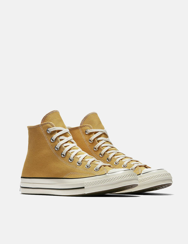 Converse 70's Chuck Hi 162054C (Canvas) - Sunflower Yellow/Black/Egret
