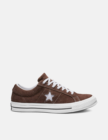 Converse One Star Ox Low Suede (162573C) - Chocolate/White