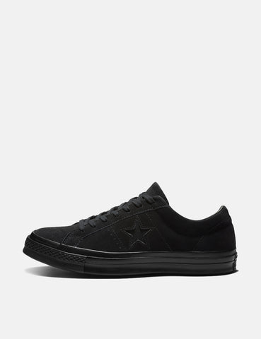 Converse One Star Ox Low Suede (162950C) - Black/Black/Black