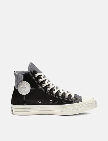 Converse 70's Chuck Mixed Material Hi (163220C) - Black/Cool Grey/Egret