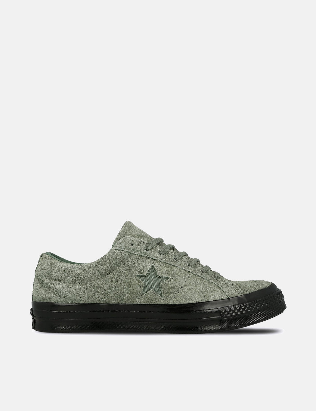 3b5d70985b626b Converse One Star Ox Low Suede (163373C) in Vintage Lichen Green Black