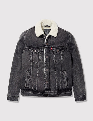 Levis Type 3 Sherpa Trucker Jacket - Brusted