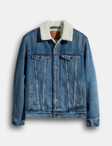 Levis Type 3 Sherpa Trucker - Needle Park Blue