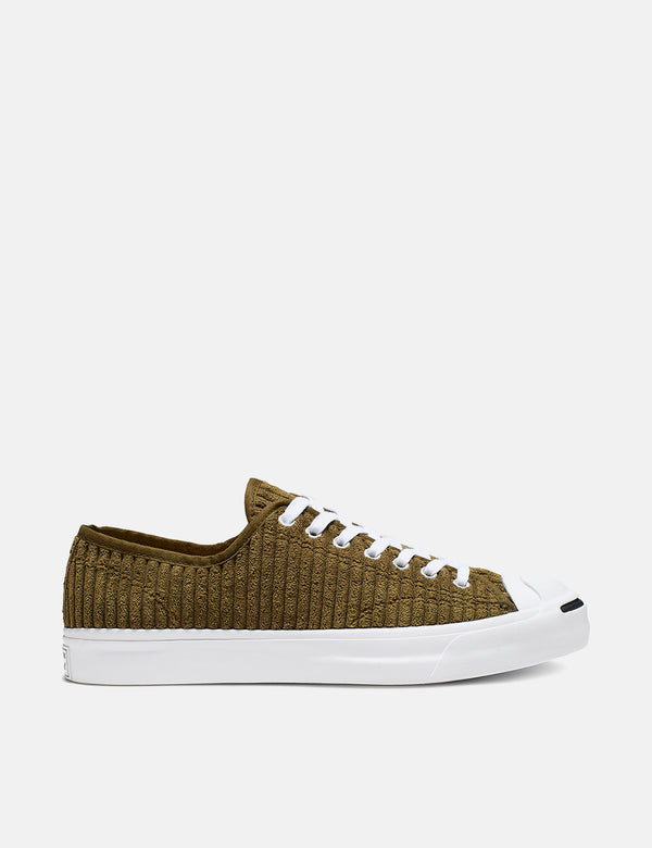 Converse Jack Purcell 165138C (Wide Wale Cord) - Surplus Vert/Blanc
