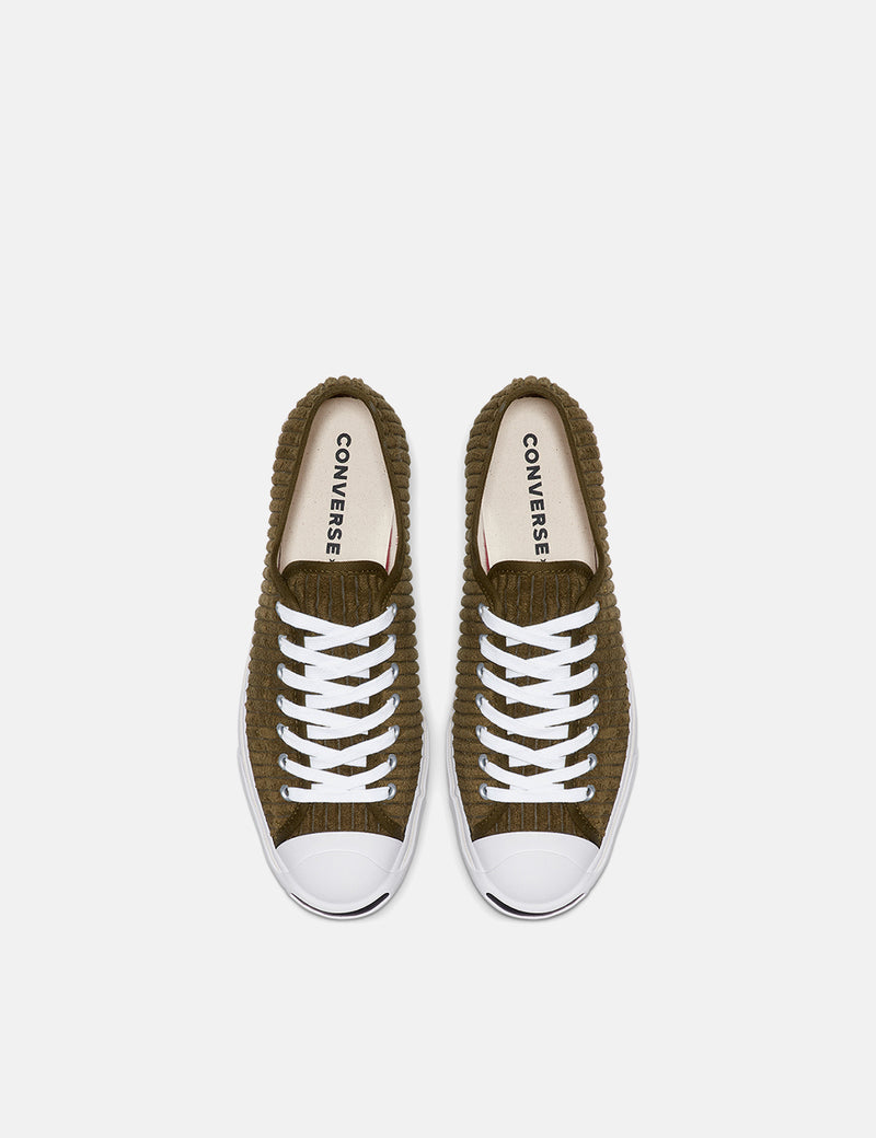 Converse Jack Purcell 165138C (Wide Wale Cord) - Surplus Green/White