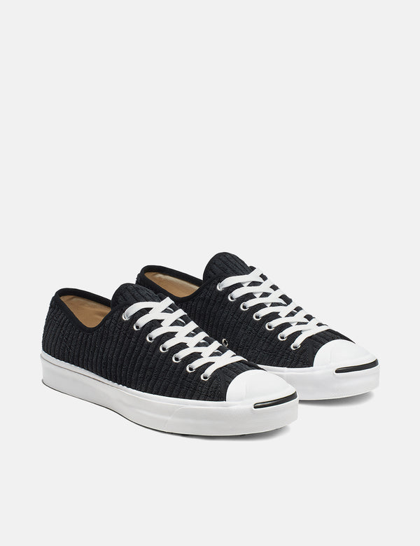 Converse Jack Purcell 165139C (Wide Wale Cord) - Black/White