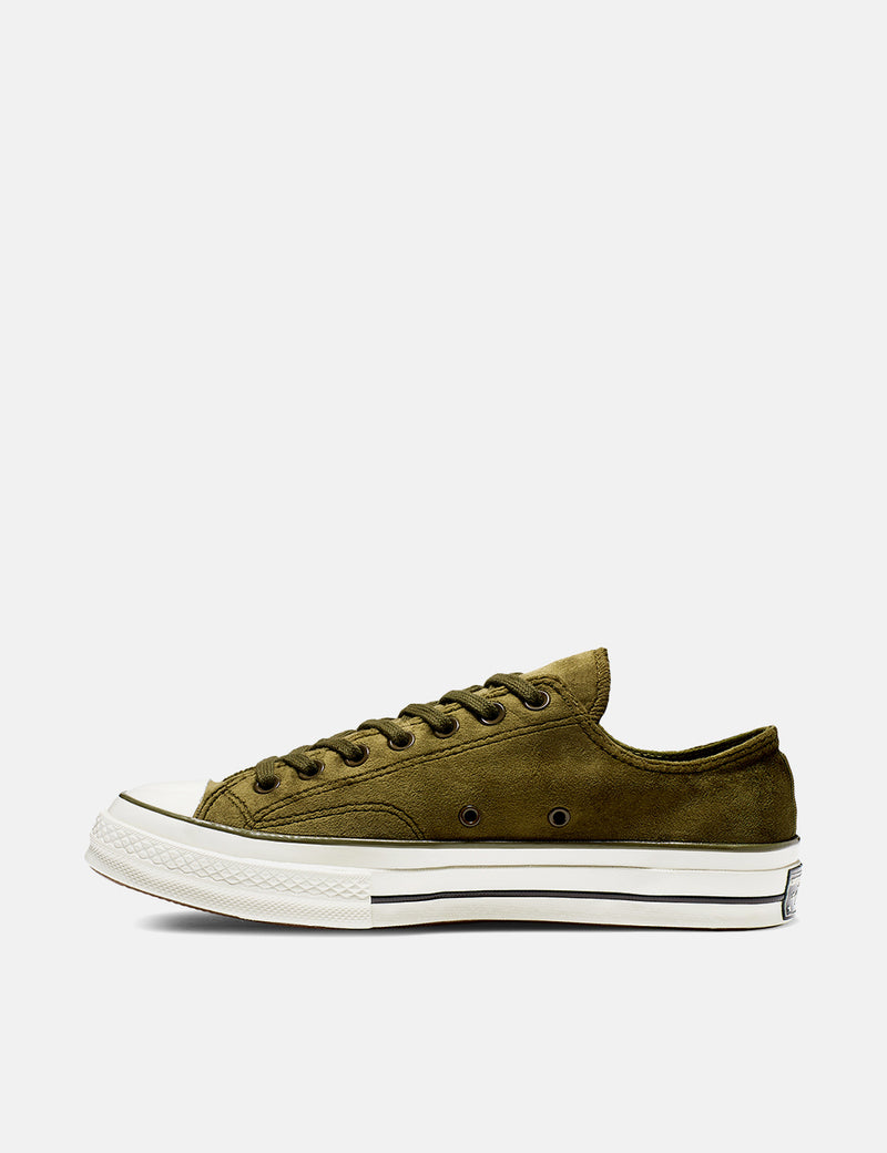 Converse 70's Chuck Taylor Low 165178C (Velvet) - Surplus Green/Egret/Black