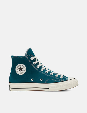 Converse 70's Chuck Taylor Hi 166214C (Suede) - Midnight Turquoise/Black/Egret