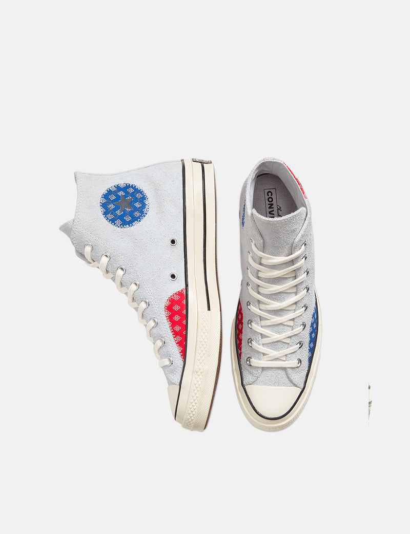 Converse Twisted Prep 70's Chuck Taylor Hi (166854C) - Photon Dust/Rush Blue