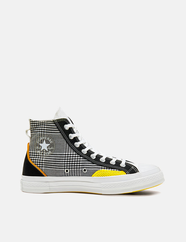 Converse Chuck 70 Hacked Fashion Hallo (168696C) - Schwarz / Weiß / Speed ​​Yellow