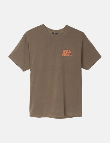 Stussy Hippie Swing T-Shirt - Brown
