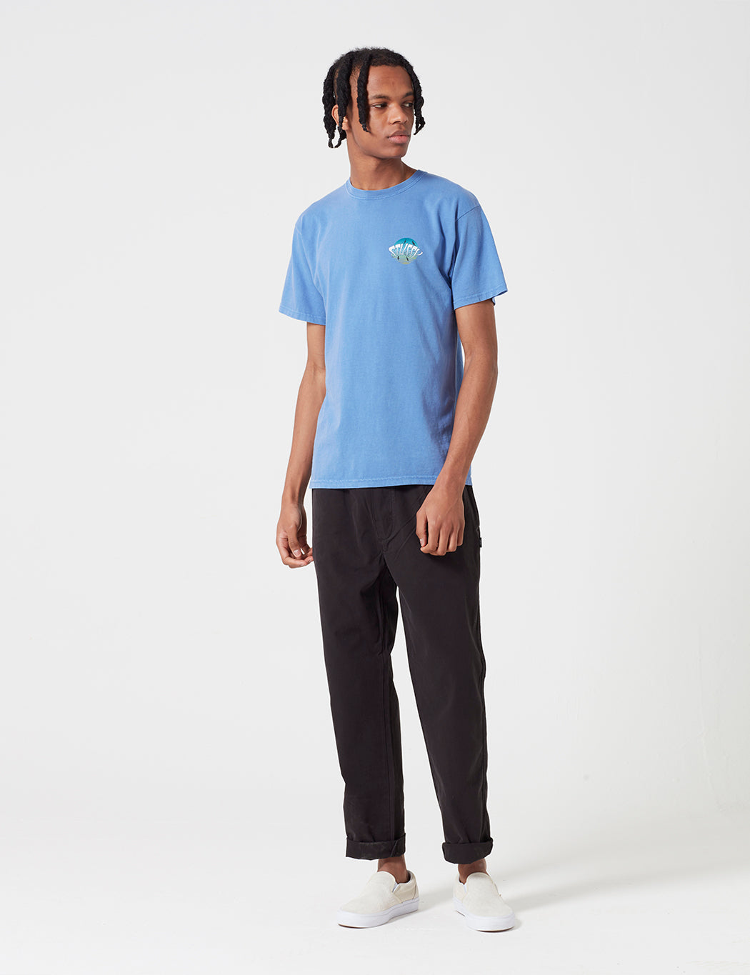 Stussy LSD Sunset Pigment Dyed T-Shirt - Blue