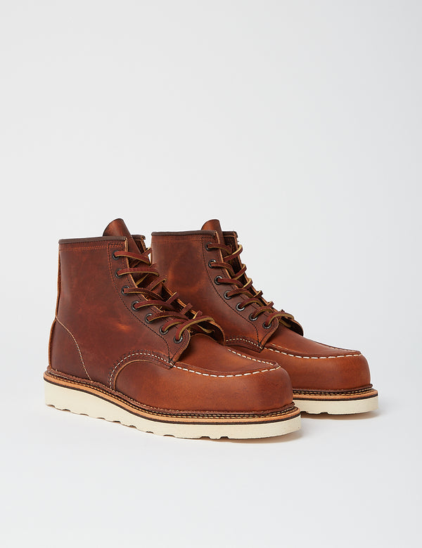 "Red Wing Heritage 6"" Moc Toe Boots (1907) - Copper Rough & Tough Brown"