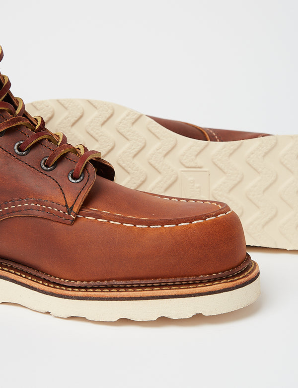 "Red Wing Heritage 6""Moc Toe Boots (1907) - Copper Rough & Tough Brown"