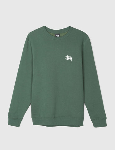 Stussy Basic Sweatshirt - Dark Forest Green
