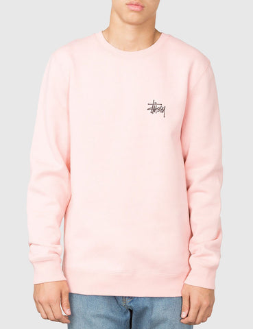 Stussy Basic Sweatshirt - Dusty Rose Pink