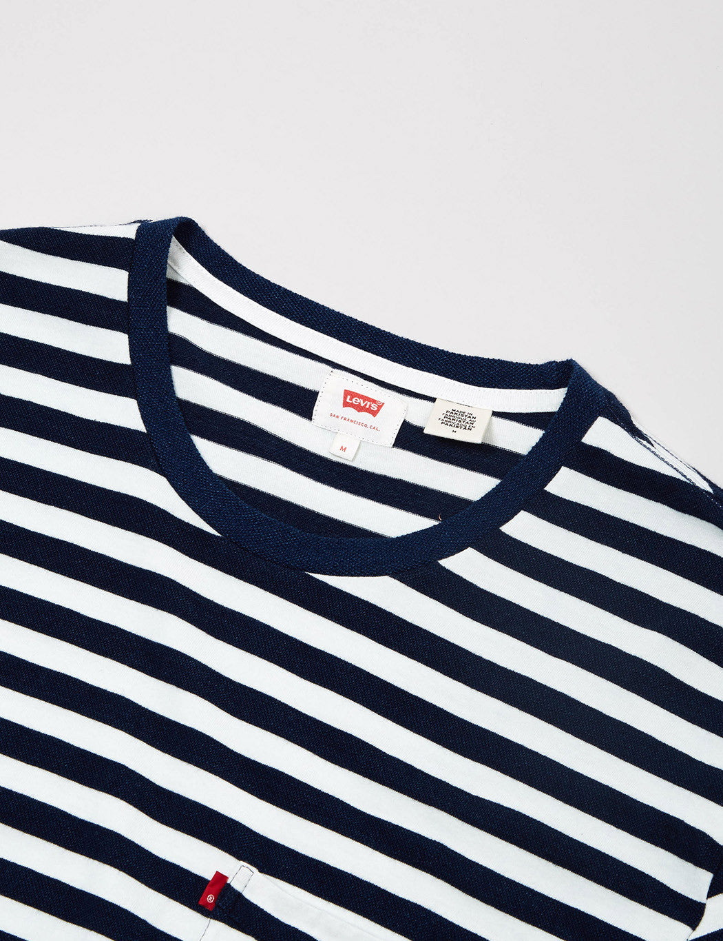 Levis Sunrise Pocket Stripe T-shirt - Indigo Blue