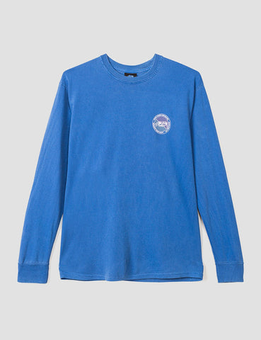 Stussy Halftone Dot Long Sleeve T-Shirt - Indigo Blue