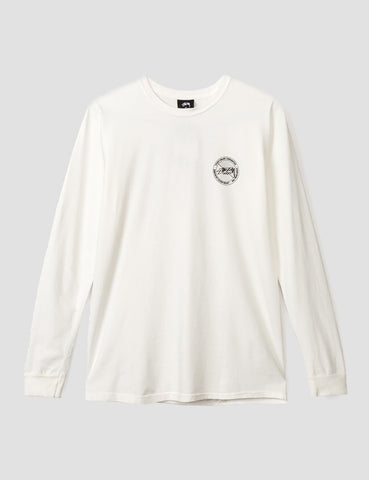 Stussy Halftone Dot Long Sleeve T-Shirt - Natural