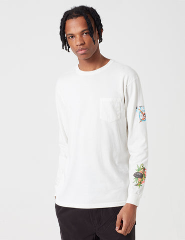 Stussy Pin Up Long Sleeve T-Shirt - White