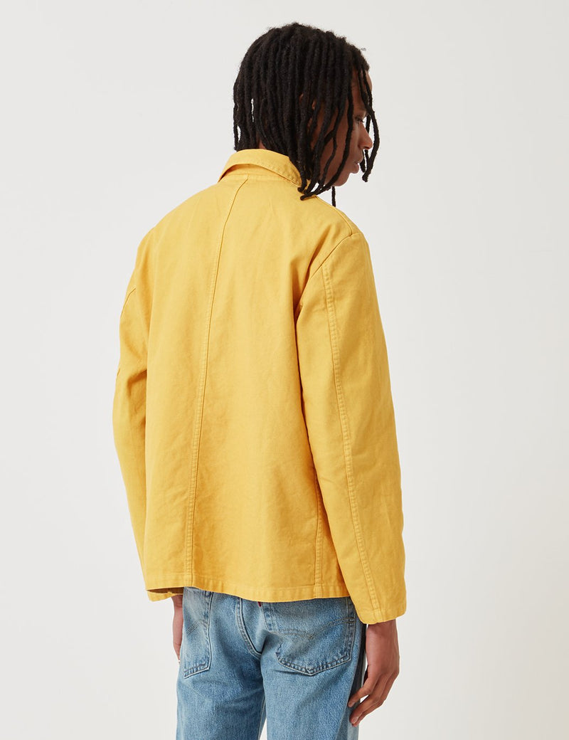 Vetra French Workwear Jacket Short (Dungaree Wash Twill) - Pineapple Yellow