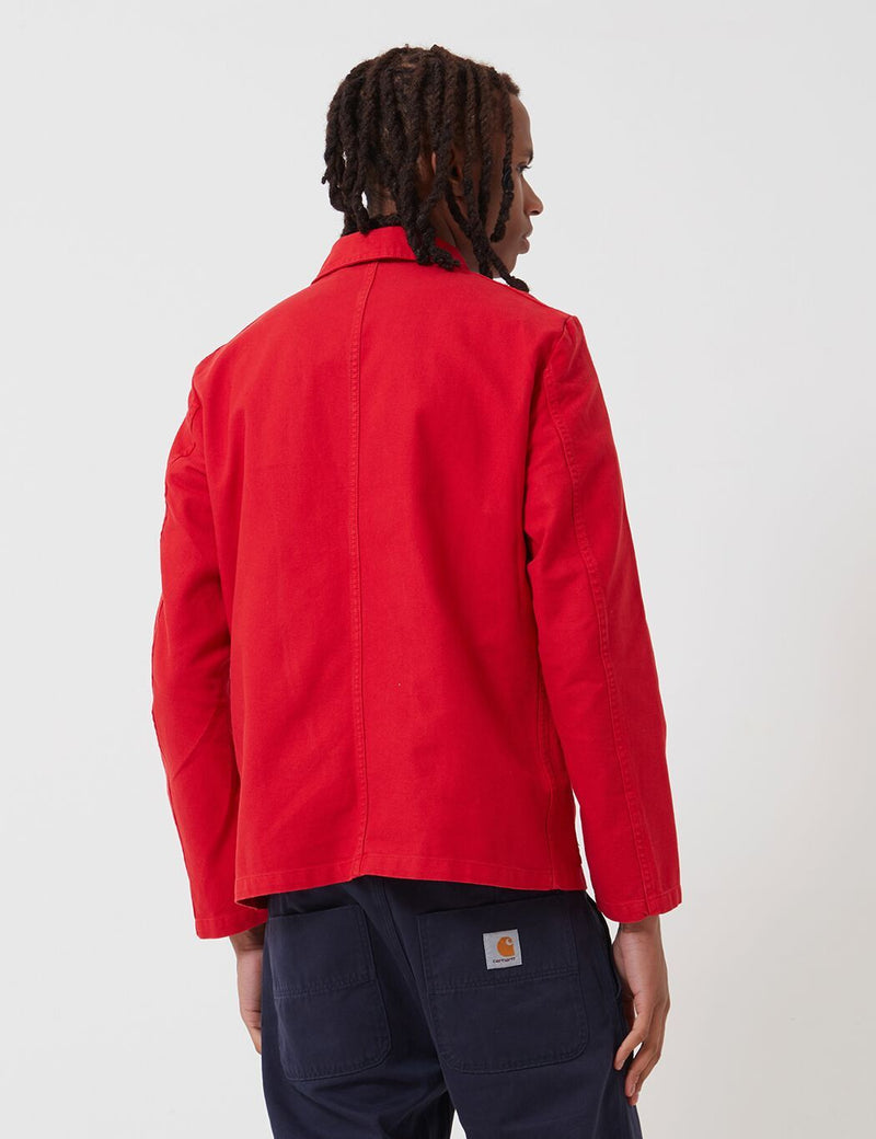 Vetra French Workwear Jacket Short (Cotton Drill) - Poppy Red