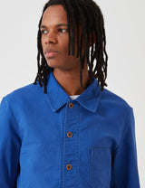 Vetra French Workwear Jacket Short (Dungaree Wash Twill) - Bugatti Blue