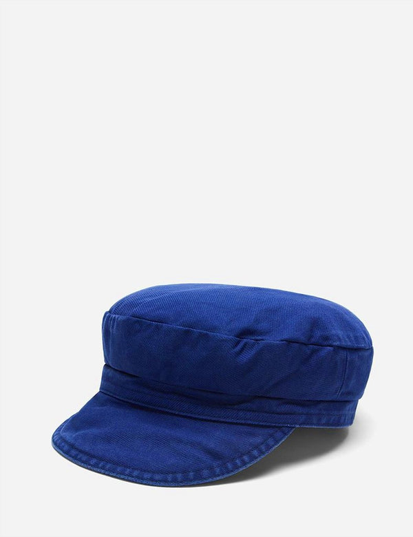 Vetra French Bakerboy Cap (Dungaree Wash Twill) - Hydrone Blue