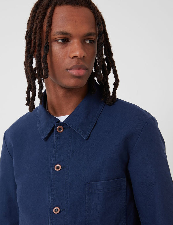 Vetra French Workwear Jacket Short (Cotton Drill) - Navy Blue