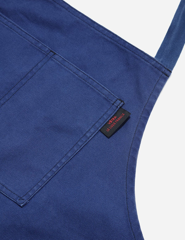 Vetra French Workwear Apron (Dungaree Wash Twill) - Hydrone Blue