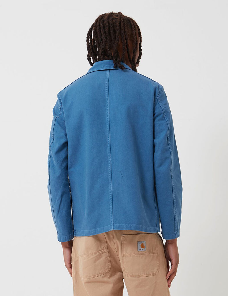 Vetra French Workwear Jacket Short (Cotton Drill) - Waid Blue