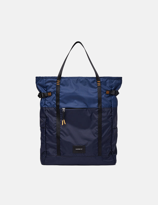 Sandqvist Roger Lightweight Backpack - Navy Blue/Evening Blue