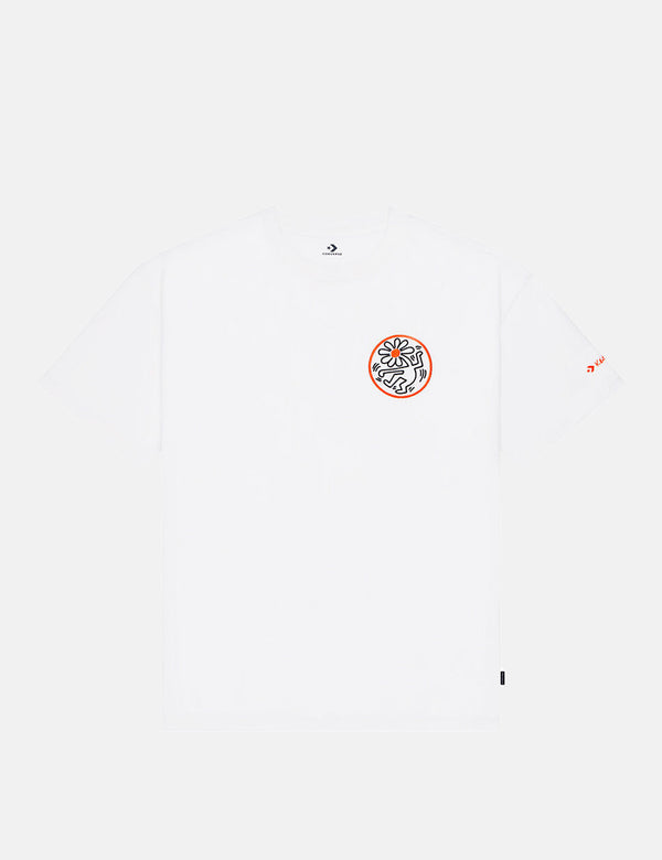 T-Shirt Graphique Converse Haring Elevated - Blanc