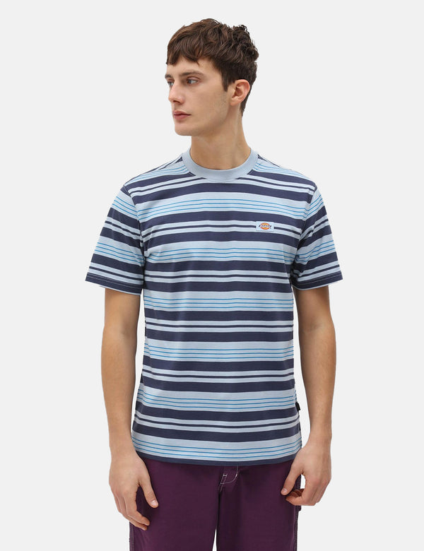 T-Shirt Dickies Wheaton (Rayé) - Fog Blue